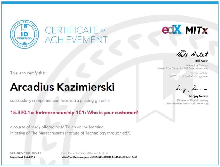 Tag: certificate | Arcadius Kazimierski - Software Engineering