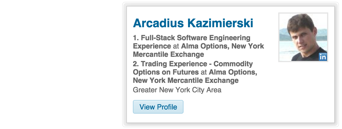 View Arcadius Kazimierski on Linkedin